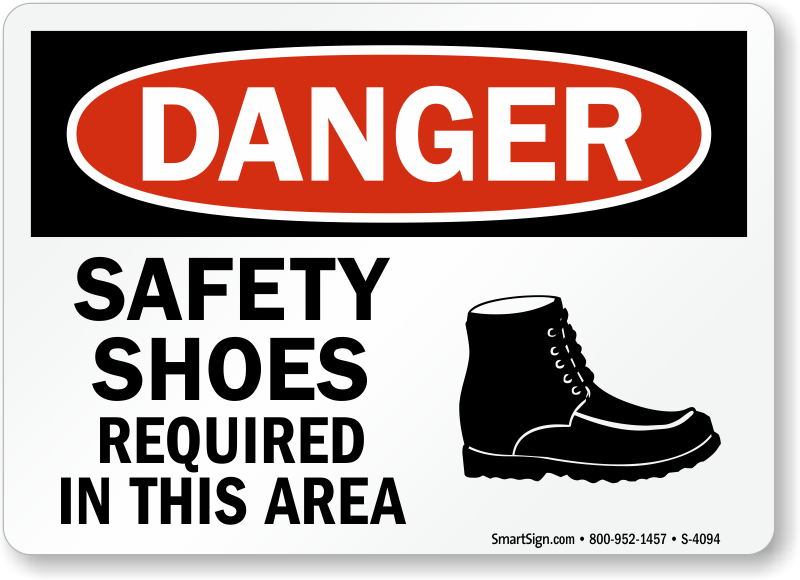 Safety Shoes Signs Mysafetysign Com