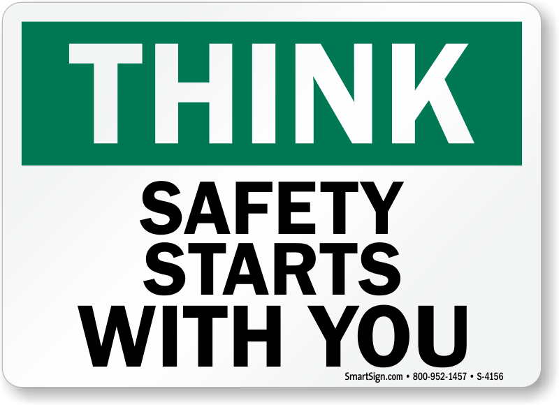 Safety Banner Safety Starts With You Sku B 0256