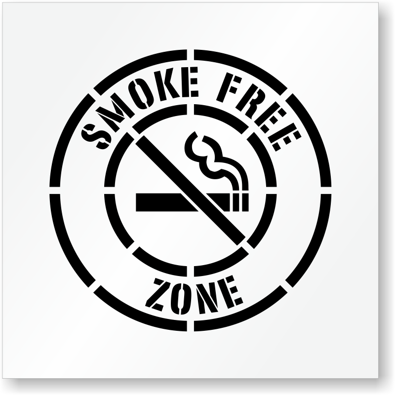 No Smoking Stencils - MySafetySign.com
