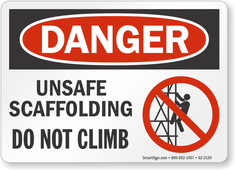 Scaffold Signs Over 40 Designs From Mysafetysign
