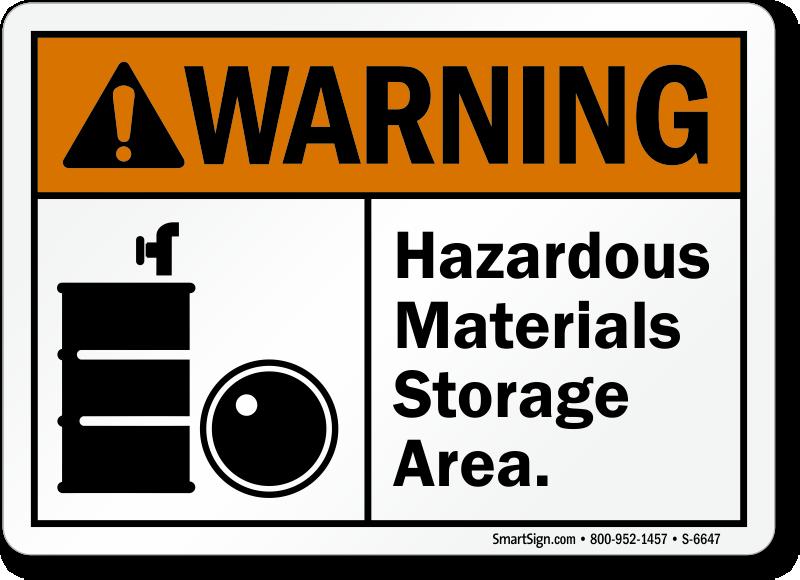 Hazardous Materials Storage Area ANSI Warning Sign, SKU: S ...