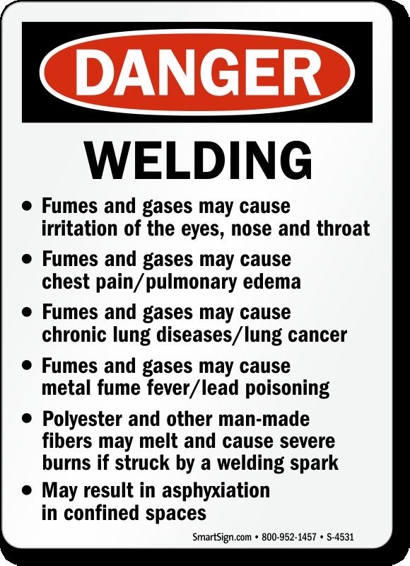 Prevent Welding Hazards Danger Amp Caution Signs