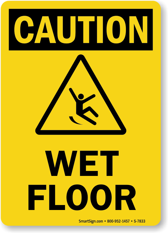 Exhilarating image with wet floor signs printable