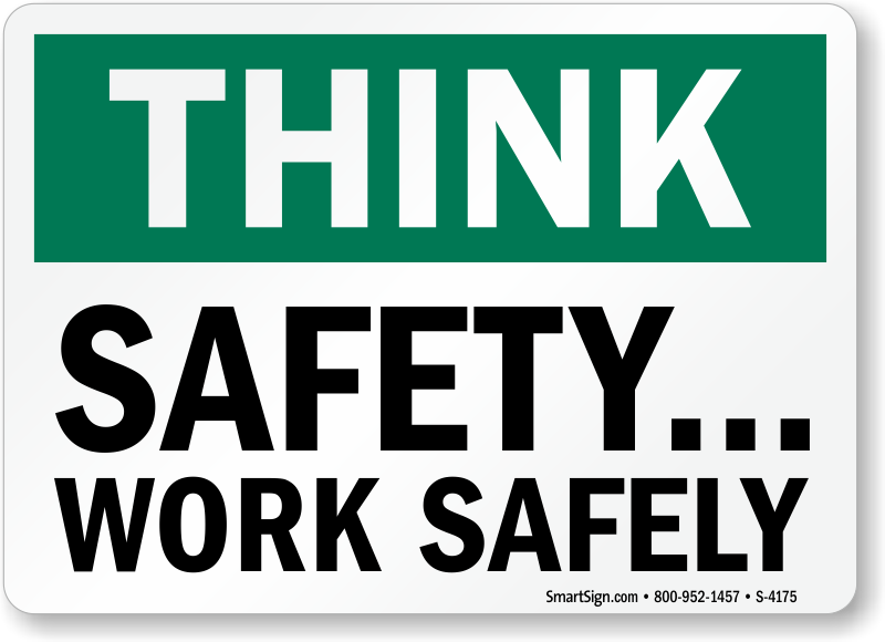 Gallery images and information: Think Safety First Logo