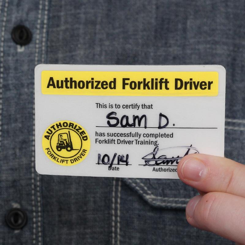 Forklift Driver License Form