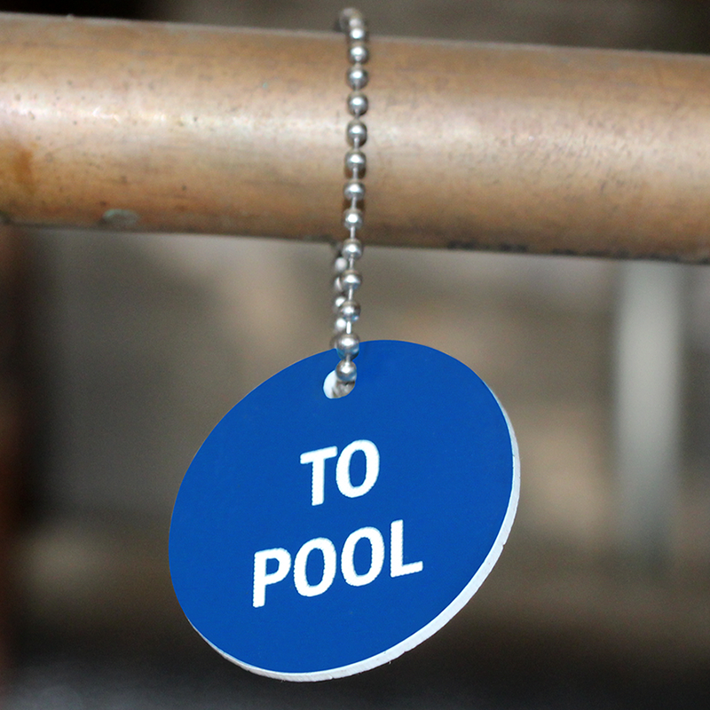 To Pool Stock Engraved Valve Circular Tag Anodized Tags