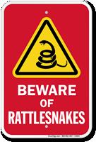 Beware Of Rattlesnakes Sign