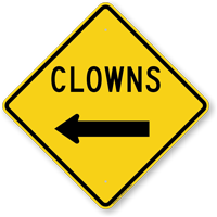 Clowns with Left Arrow