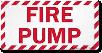 Fire Pump Label