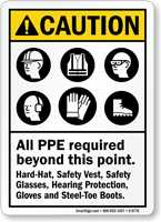 All PP&E Required ANSI Caution Sign