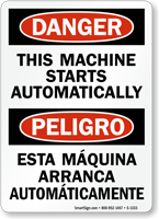 Customizable Danger Sign With Bilingual Text