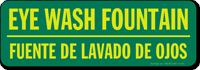 Eye Wash Fountain Sign (Bilingual)
