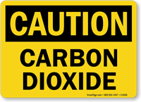 Caution Carbon Dioxide Sign