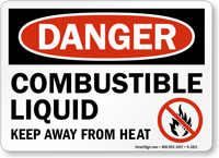 Combustible Liquid OSHA Danger Sign