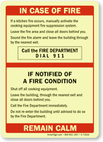 Upon Hearing Of Fire Condition Dial 911 Sign