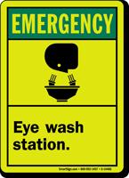Emergency (ANSI) Eye Wash Station Sign