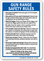 Gun Range Safety Rules Sign