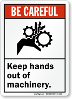 Keep Hand Out Machinery Sign