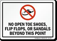 No Open Shoes Or Sandals Sign Sku S2 1120 Mysafetysign Com
