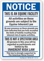 Notice This Is A Equine Facility Sign Sku S2 1713