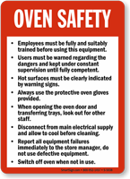 Oven Safety Guidelines Sign Food And Kitchen Safety Sku
