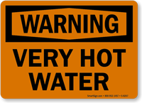 Warning Very Hot Water Sign