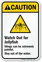 Watch Out for Jellyfish Sign