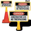Danger Construction Site ConeBoss Sign