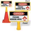 Persons Working Above ConeBoss Sign