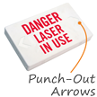 Danger Laser In Use Exit Sign with Battery Backup
