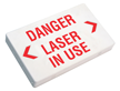 Laser In Use Exit Sign with Battery Backup