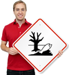GHS Dangerous For Environment Pictogram ISO Sign
