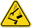 Falling Materials ISO Triangle Warning Sign