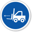 Forklift Point ISO Mandatory Sign