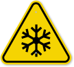 ISO Freezing Hazard, Frostbite Symbol Warning Sign