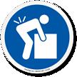 Lifting Hazard ISO Symbol Sign