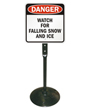 Watch For Falling Snow Sign & Post Kit