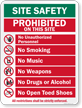 All Restrictions Shall Be Strictly Enforced Sign