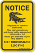 Keep Your Distance, Alabama Alligator Warning Sign