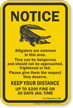 Keep Your Distance, South Carolina Alligator Warning Sign