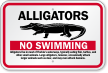 Alligators No Swimming Sign
