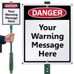 Custom Warning Sign & Stake Kit