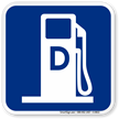Diesel Fuel Gas Station Graphic Sign