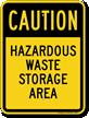 Hazardous Waste Storage Area Sign