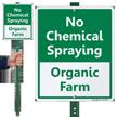 No Chemical Spraying Organic Farm LawnBoss Sign
