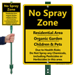 No Spray Zone Residential Area LawnBoss Sign