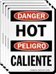 Hot Caliente OSHA Danger Label