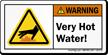 Very Hot Water ANSI Warning Label