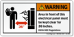 Warning, Electrical Panel Area, Keep Clear Label