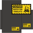 Watch For Forklifts Classic & Fashion Sign Mat
